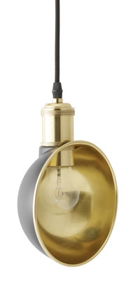 Illuminazione - Lampadari - Sospensione Duane / Ø 16,5 cm - Menu - Nero & Ottone - Acciaio laccato, Ottone