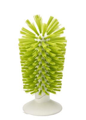 Cucina - Pulizia - Spazzola per bicchiere Brush-up / Base ventosa - Joseph Joseph - Verde - ABS, Nylon