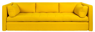 Furniture - Sofas - Hackney Carriage Straight sofa by Hay - Yellow -  Plumes, Kvadrat fabric, Polyurethane foam, Wood