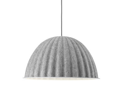 Luminaire - Suspensions - Suspension acoustique Under The Bell Small / Feutre - Ø 55 cm - Muuto - Gris - Feutre PET recyclé