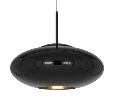 Luminaire - Suspensions - Suspension Copper Wide / Ø 50 x H 22 cm - Tom Dixon - Noir brillant - Polycarbonate