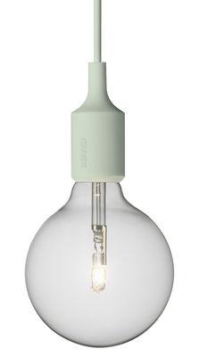 Suspension E27 - Muuto vert pâle en matière plastique