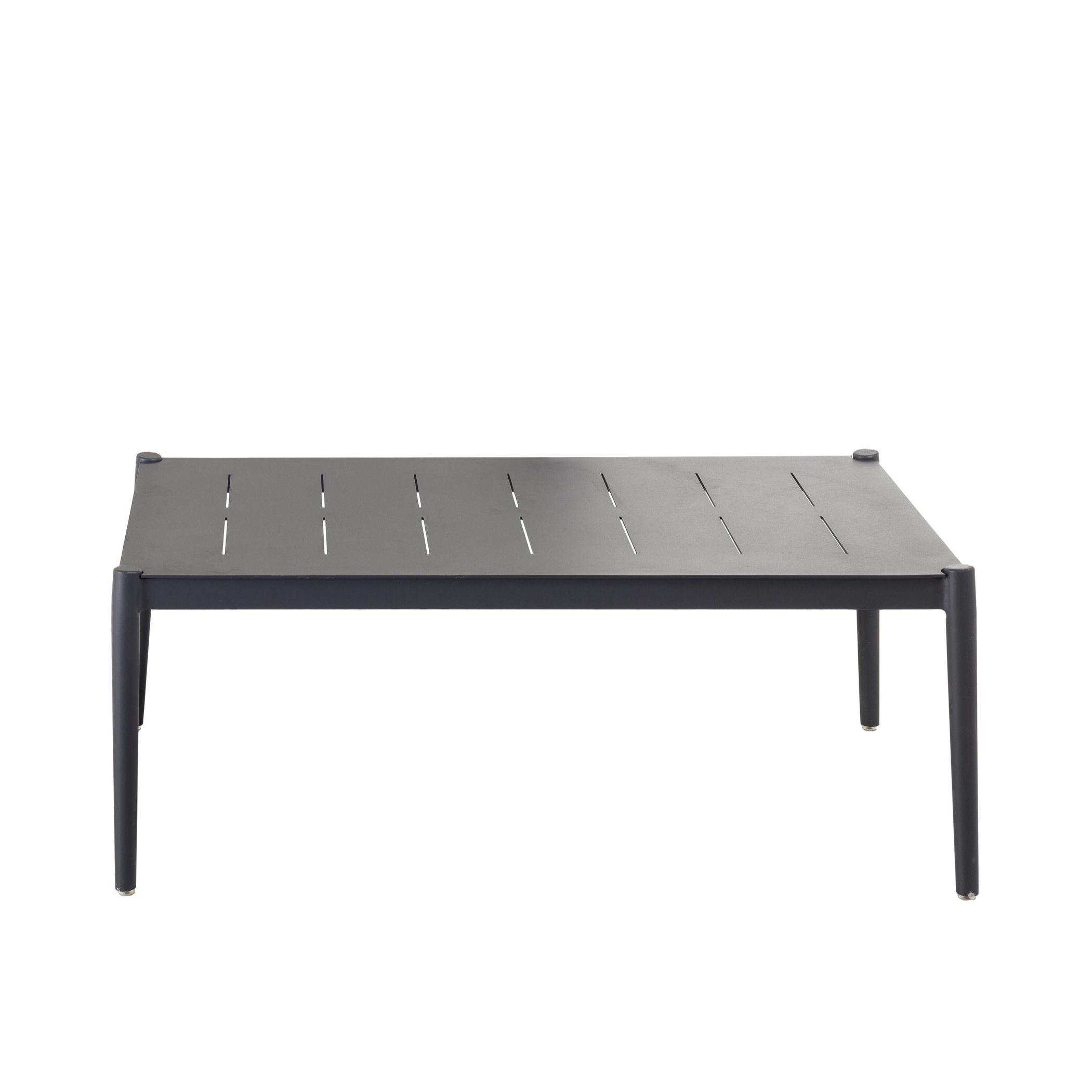 Mobilier - Tables basses - Table basse Luce / 100 x 60 cm - Aluminium - Unopiu - Gris Graphite - Aluminium