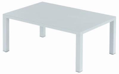 Table basse Round / Méta l - 70 x 100 cm - Emu blanc en métal