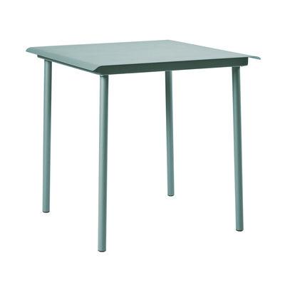 Table carrée Patio Café / Inox - 75 x 75 cm - Tolix vert lichen en métal