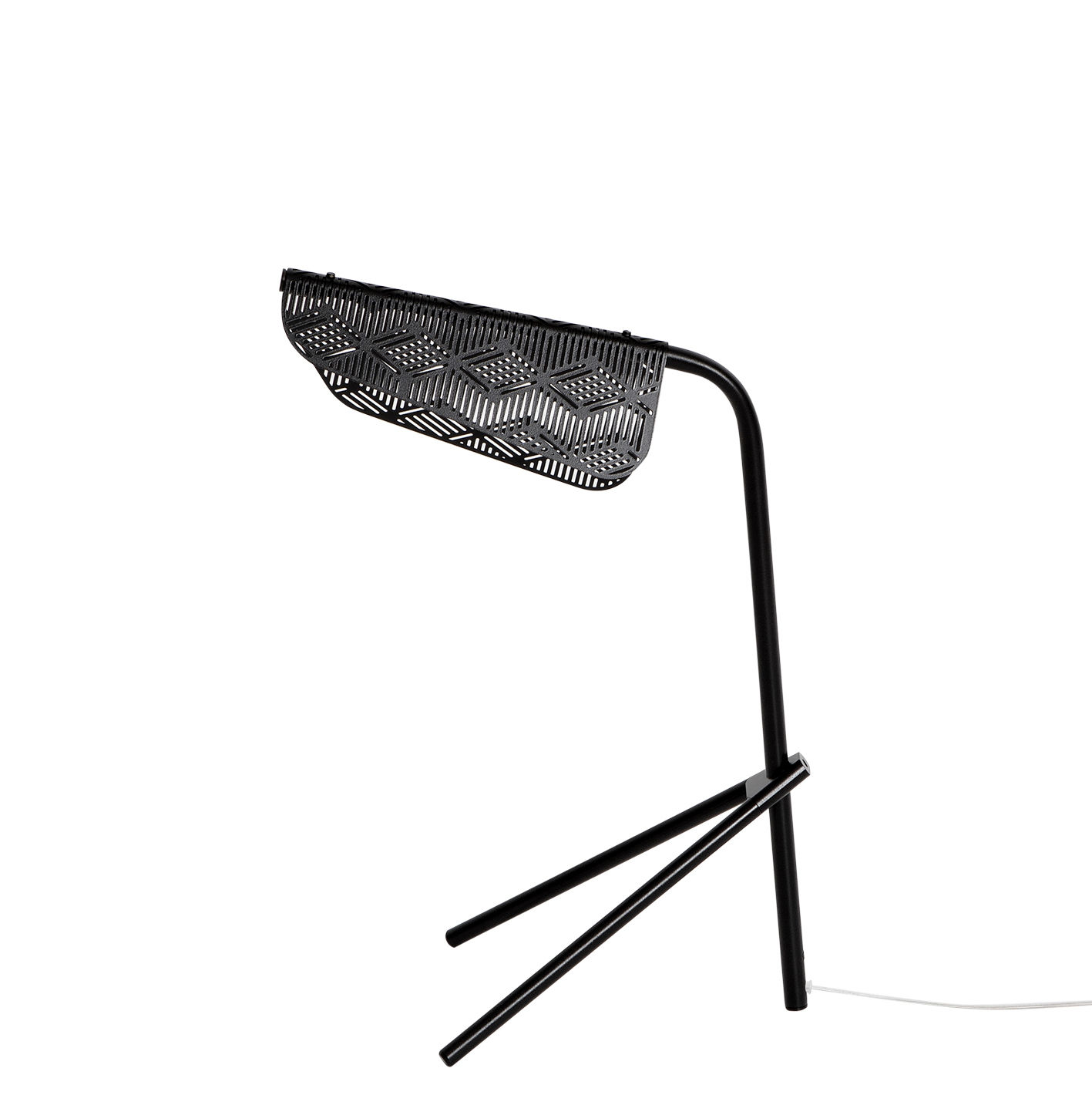 Lighting - Table Lamps - Méditerranéa Table lamp - / LED - Perforated metal by Petite Friture - Black - Varnished brass