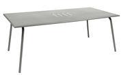 Table rectangulaire Monceau 194 x 94 cm 8 personnes Fermob gris métal en métal