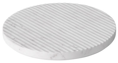 Tableware - Table Mats & Trivets - Groove Tablemat - / Large - Ø 21,6 cm by Muuto - White - Marble