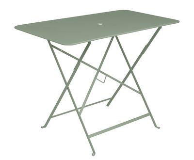 Outdoor - Tavoli  - Tavolo pieghevole Bistro - / 97 x 57 cm - 4 persone - Foro per parasole di Fermob - Cactus - Acciaio verniciato
