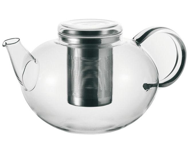 Tavola - Caffè - Teiera Moon - 2L di Leonardo - Trasparente - 2 L - Acciaio, Vetro