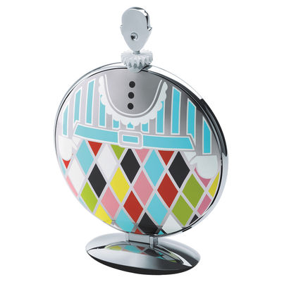 Tableware - Serving Plates - Fatman Tray - Folding Cake stand/Table centerpiece by Alessi - Mirror polished stainless steel & Multicolored - Steel