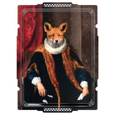 Tableware - Trays - Goupil le Renard Tray - / Wall picture - L 49 x H 66 cm by Ibride - H 66 cm / Wily Old Fox - HPL laminate