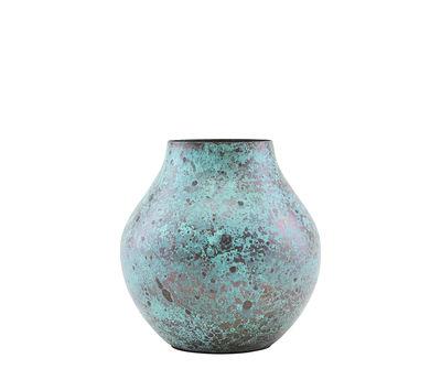 Decoration - Flower Pots & House Plants - Kojo Vase - / Ø 6 x H 12 cm - Steel by House Doctor - Oxidised turquoise - Steel