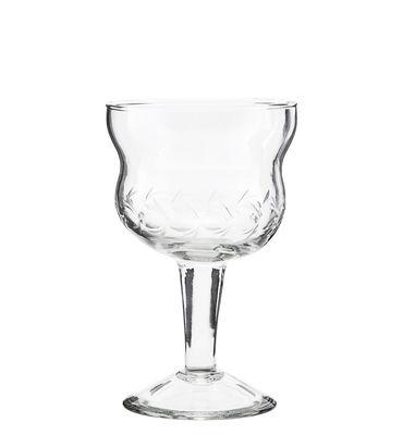 Arts de la table - Verres  - Verre à vin Vintage - House Doctor - Transparent - Verre ciselé