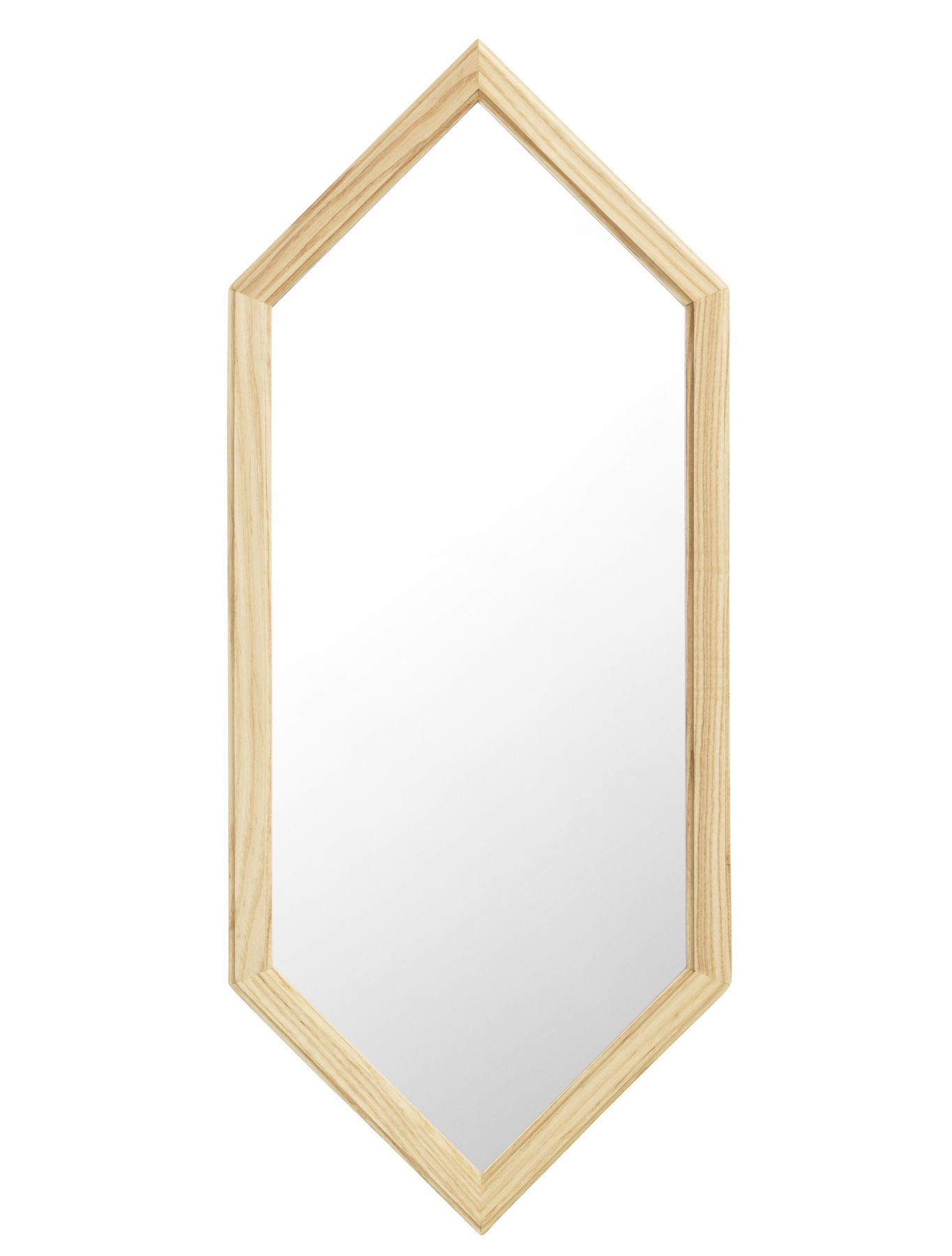 Decoration - Mirrors - Lust   Small Wall mirror - / L 29 x H 70 cm by Normann Copenhagen - Silver mirror / Wood - Glass, Natural oak