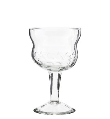 Tableware - Wine Glasses & Glassware - Vintage Wine glass by House Doctor - Transparent - Engraved glass