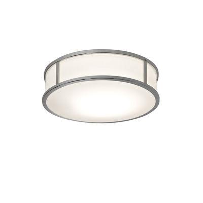 Illuminazione - Lampade da parete - Applique Mashiko Round LED - / Ø 30 cm - Vetro di Astro Lighting - Cromo - Acciaio inossidabile, Vetro