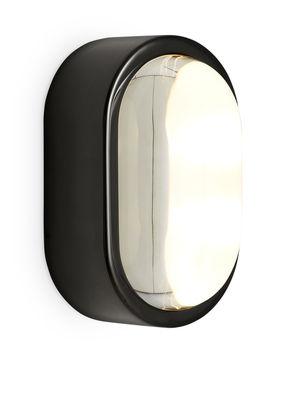 Luminaire - Appliques - Applique Spot LED / Ovale - 18 x 10 cm - Tom Dixon - Noir brillant - Acier inoxydable, Verre