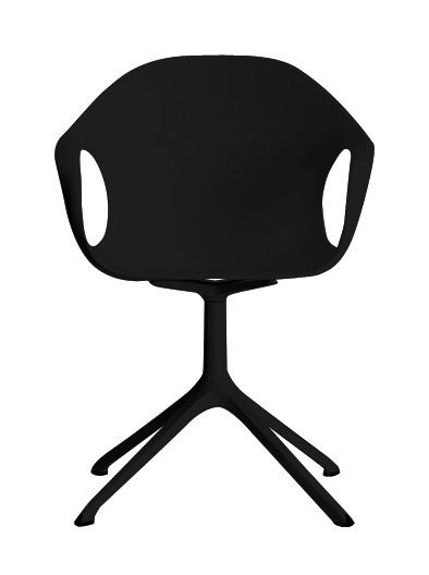 Furniture - Chairs - Elephant Trestle Armchair - Plastic shell & metal legs by Kristalia - Black - Lacquered polyurethane