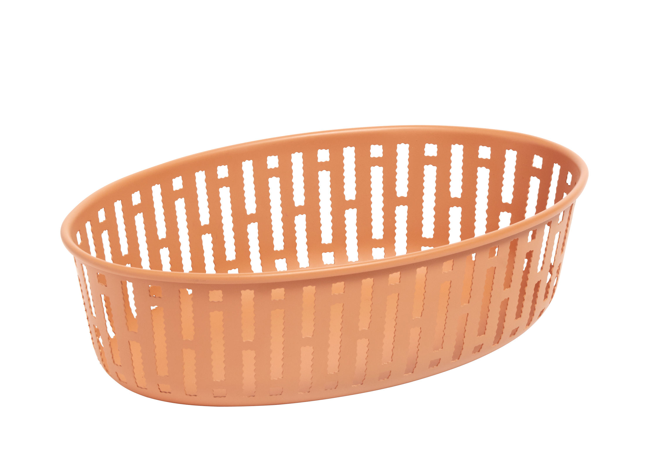 Decoration - Centrepieces & Centrepiece Bowls - Panier Basket - / 25 x 16 cm - Steel by Hay - Rust - Steel