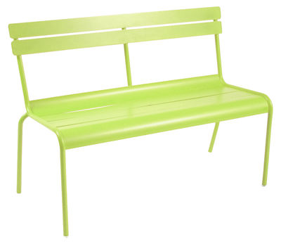 Life Style - Luxembourg Bench with backrest - 2/3 seats by Fermob - Verbena - Lacquered aluminium