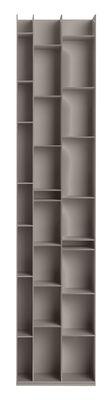 Mobilier - Etagères & bibliothèques - Bibliothèque Random 3C / L 46 x H 217 cm - MDF Italia - Gris clair - Fibre de bois