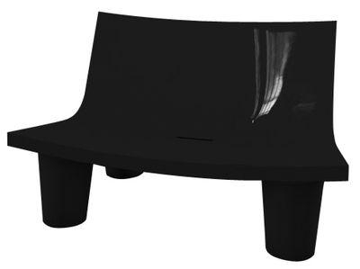 Canapé 2 places Low Lita Love / L 118 cm - Version laquée - Slide laqué noir en matière plastique