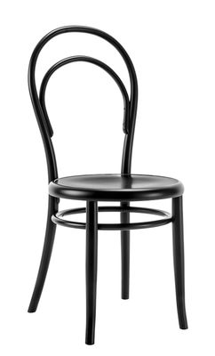 Furniture - Chairs - N° 14 Chair - / Full seat - 1860 reissue by Wiener GTV Design - Full seat / Black - Beechwood plywood, Curved solid beechwood