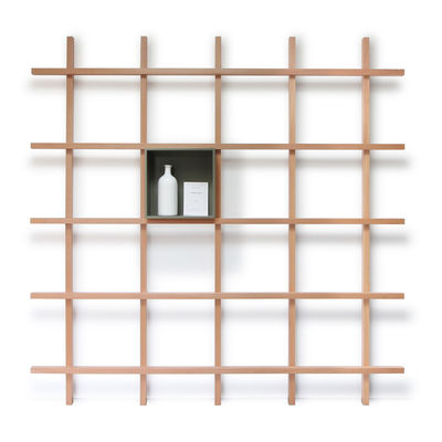 Furniture - Bookcases & Bookshelves - Compartment - / For Mike bookcase by Compagnie - Unit / Moss grey - Lacquered MDF