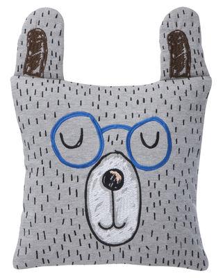 Déco - Pour les enfants - Coussin Little Mr. Teddy - Ferm Living - Ours / Bleu & gris - Duvet, Plumes, Tissu