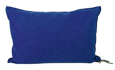 Déco - Coussins - Coussin Vice Versa / 30 x 50 cm - Lin - Maison de Vacances - Bleu cobalt - Coton, Lin Lavé Froissé, Plumes de canard