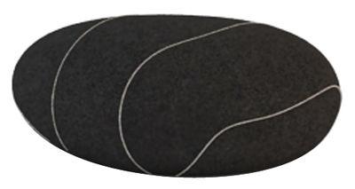 Coussin Xavier Livingstones / Laine - 50 x 40 cm - Smarin noir en tissu