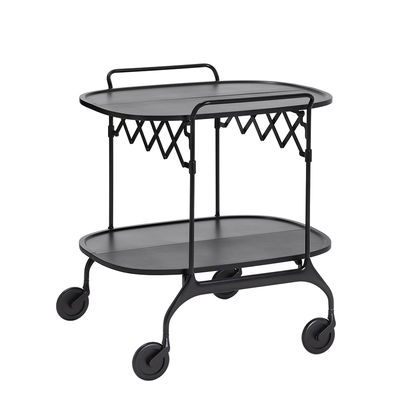 Furniture - Miscellaneous furniture - Gastone Dresser - / Folding - 68 x 62 cm / Matt version by Kartell - Matt black - Glass fiber reinforced nylon, Painted steel