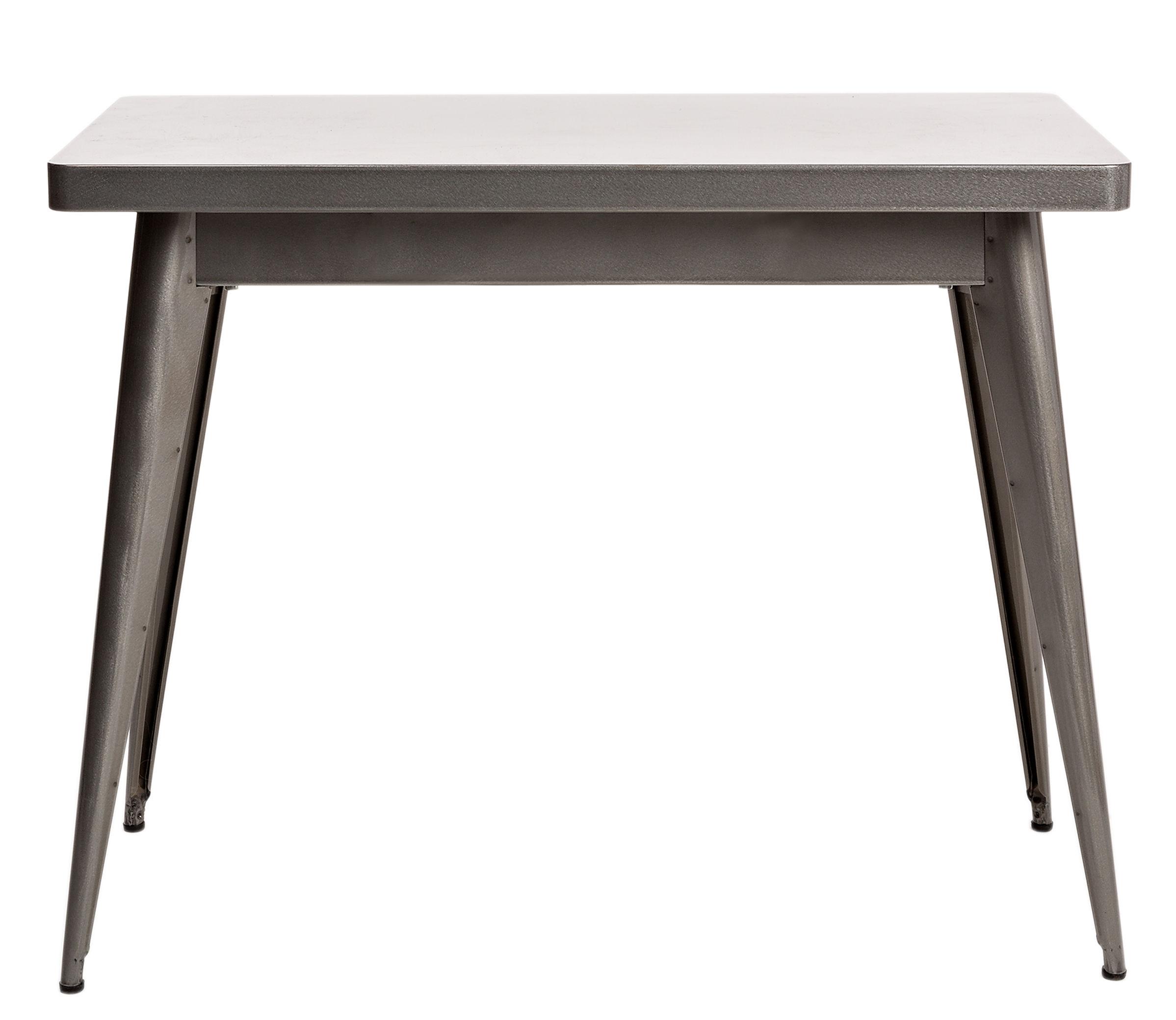 Möbel - Konsole - 55 Konsole / ohne Schublade - Tolix - Ohne Schublade / Rohstahl, glänzend - Acier brut verni brillant