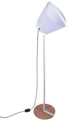 Lampadaire Cône - La Corbeille blanc en métal