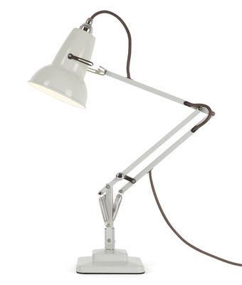 Lampe de table Original 1227 Mini / 2 bras articulés - H max 50 cm - Anglepoise blanc lin en métal