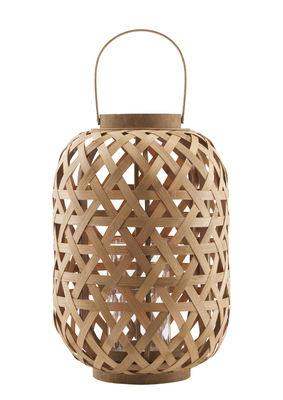 Jardin - Déco et accessoires - Lanterne Grome / Bambou - H 45 cm - House Doctor - Grome / Bambou - Bambou, Verre