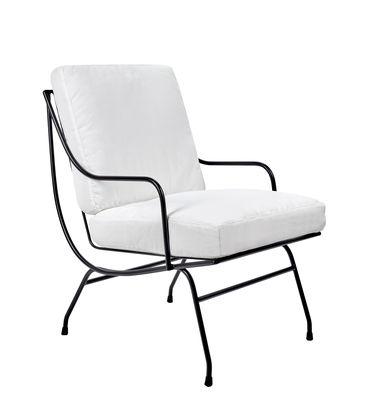 Stresa Lounge Sessel / mit Sitzkissen - Serax - Weiß,Schwarz