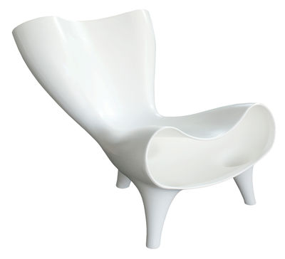 Furniture - Teen furniture - Orgone Low armchair by Artificial - Pop Corn - White - roto-moulded polyhene