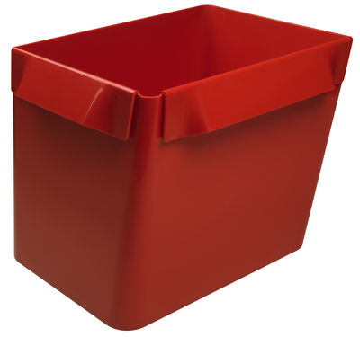 Panier Big Bin étagère modulable - Authentics rouge en matière plastique