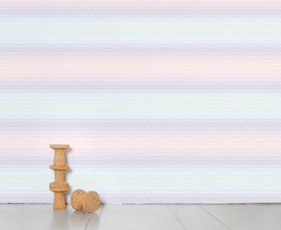 Decoration - Wallpaper & Wall Stickers - Optical Grid Panoramic Wallpaper by Domestic - pink, violet, bleu, yellow - Intisse paper