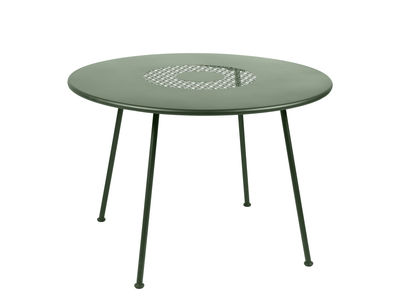 Outdoor - Garden Tables - Lorette Round table - / Ø 110 cm - Metal by Fermob - Cactus - Lacquered steel