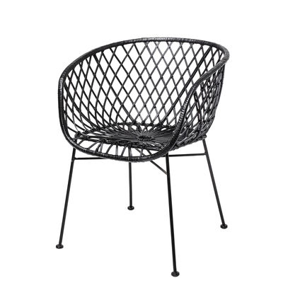 Möbel - Stühle  - Kama Sessel / Rattan - Bloomingville - Schwarz - Rattan