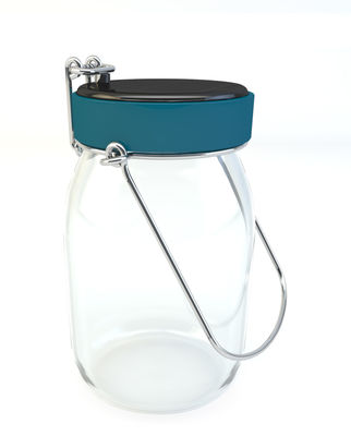 Decoration - Children's Home Accessories - Luciole Solar lamp - LED / Warm light by Tistéane - Blue - Glass, Plastic, Stainless steel