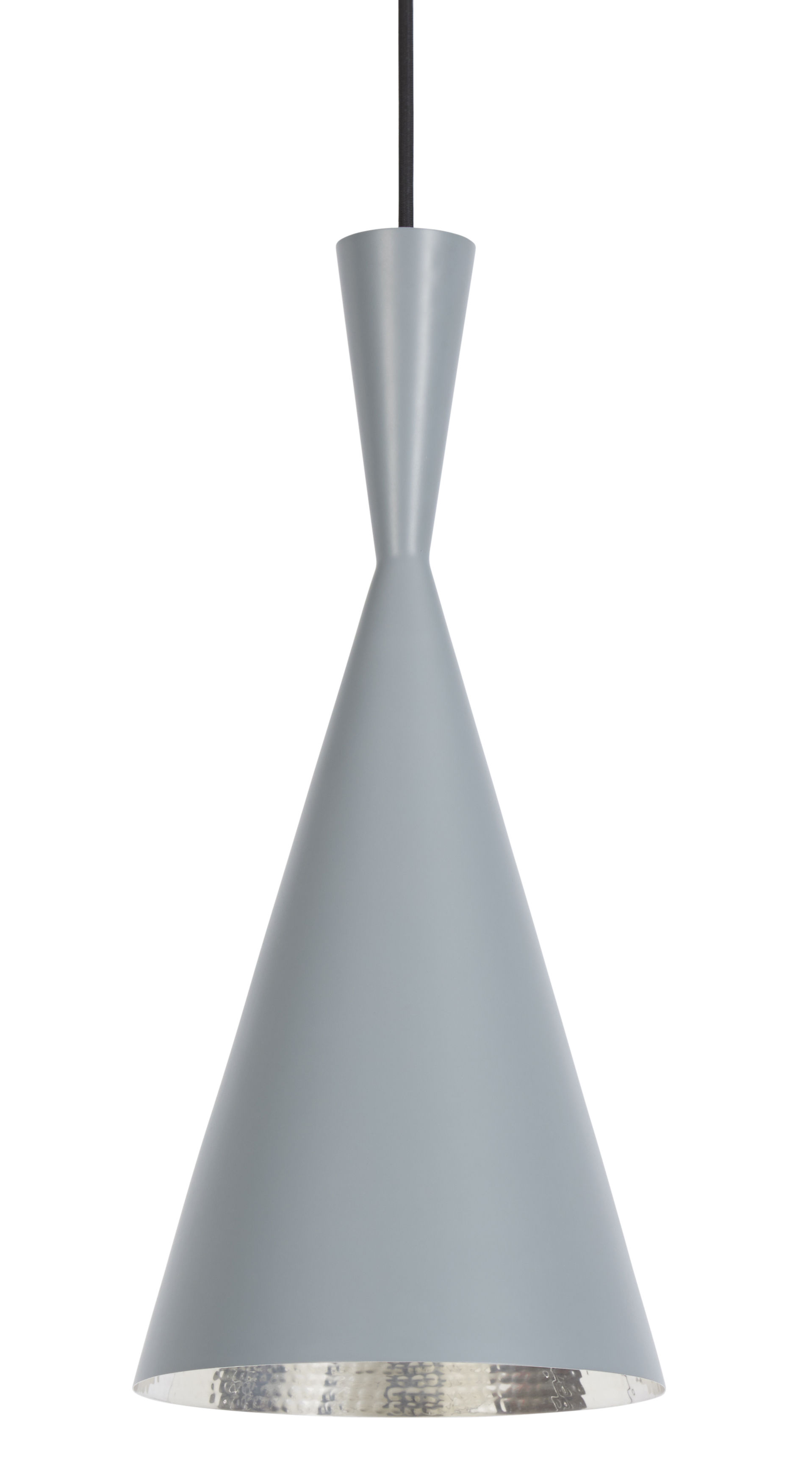 Illuminazione - Lampadari - Sospensione Beat Tall di Tom Dixon - Grigio / Interno argento - Ottone