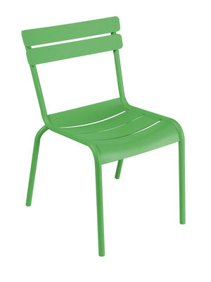 Furniture - Chairs - Luxembourg Stacking chair - Metal by Fermob - Grass green - Lacquered aluminium