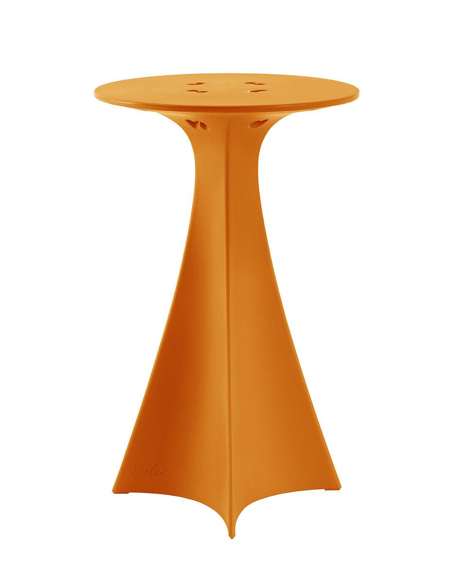 Möbel - Stehtische und Bars - Jet Stehtisch / Ø 62 x H 100 cm - Slide - Orange - recycelbares Polyethen