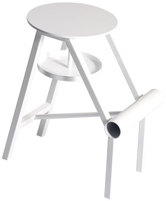 Furniture - Stools - Shoe Stool by Opinion Ciatti - Glossy white - Painted metal