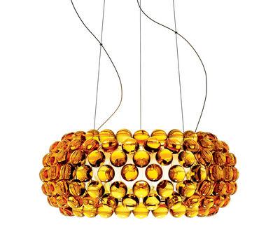 Suspension Caboche Media LED / Ø 50 cm - Foscarini ambre en matière plastique