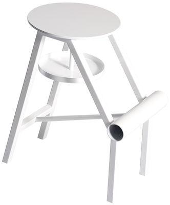 Mobilier - Tabourets bas - Tabouret Shoe / Métal - Opinion Ciatti - Blanc brillant - Métal peint